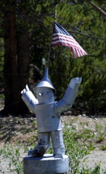 Tinman with Flag